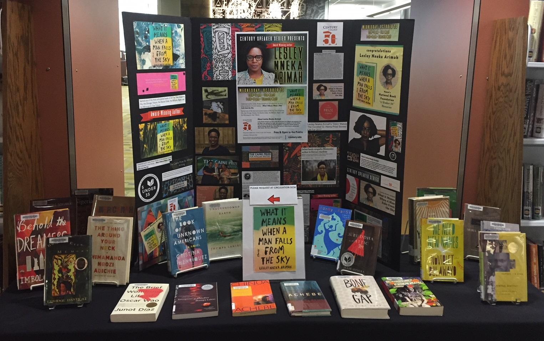 Lesley Nneka Arimah display in Century Library.