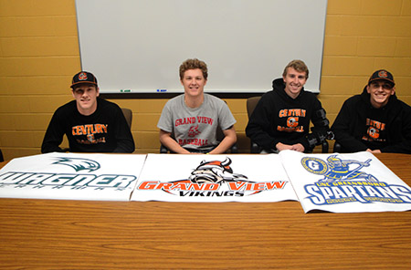Century Baseball Players Signing
