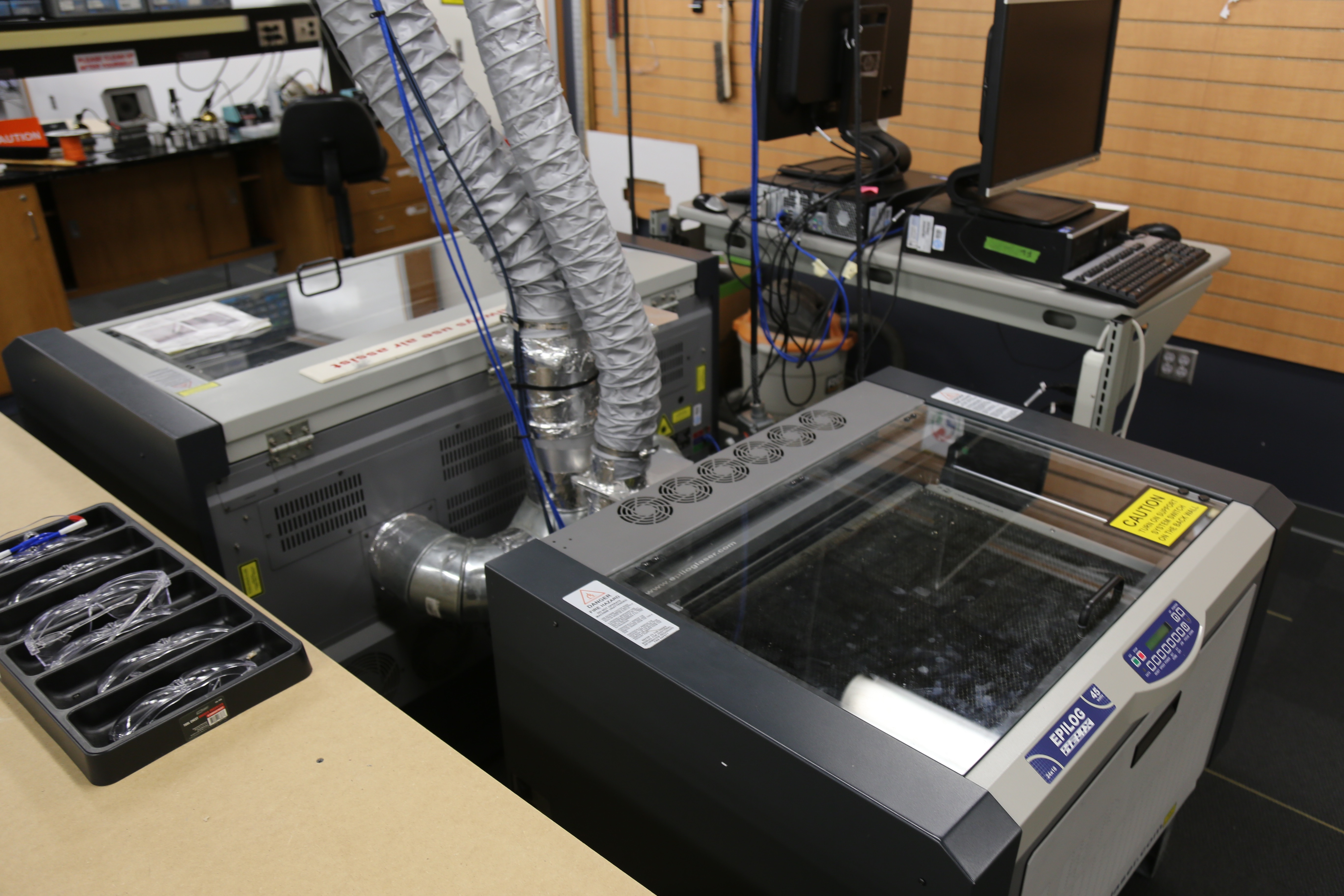Image of 3D printers in FabLab.