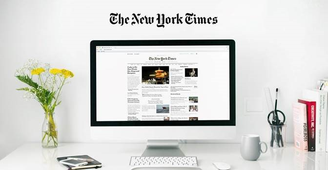 New York Times on your computer.
