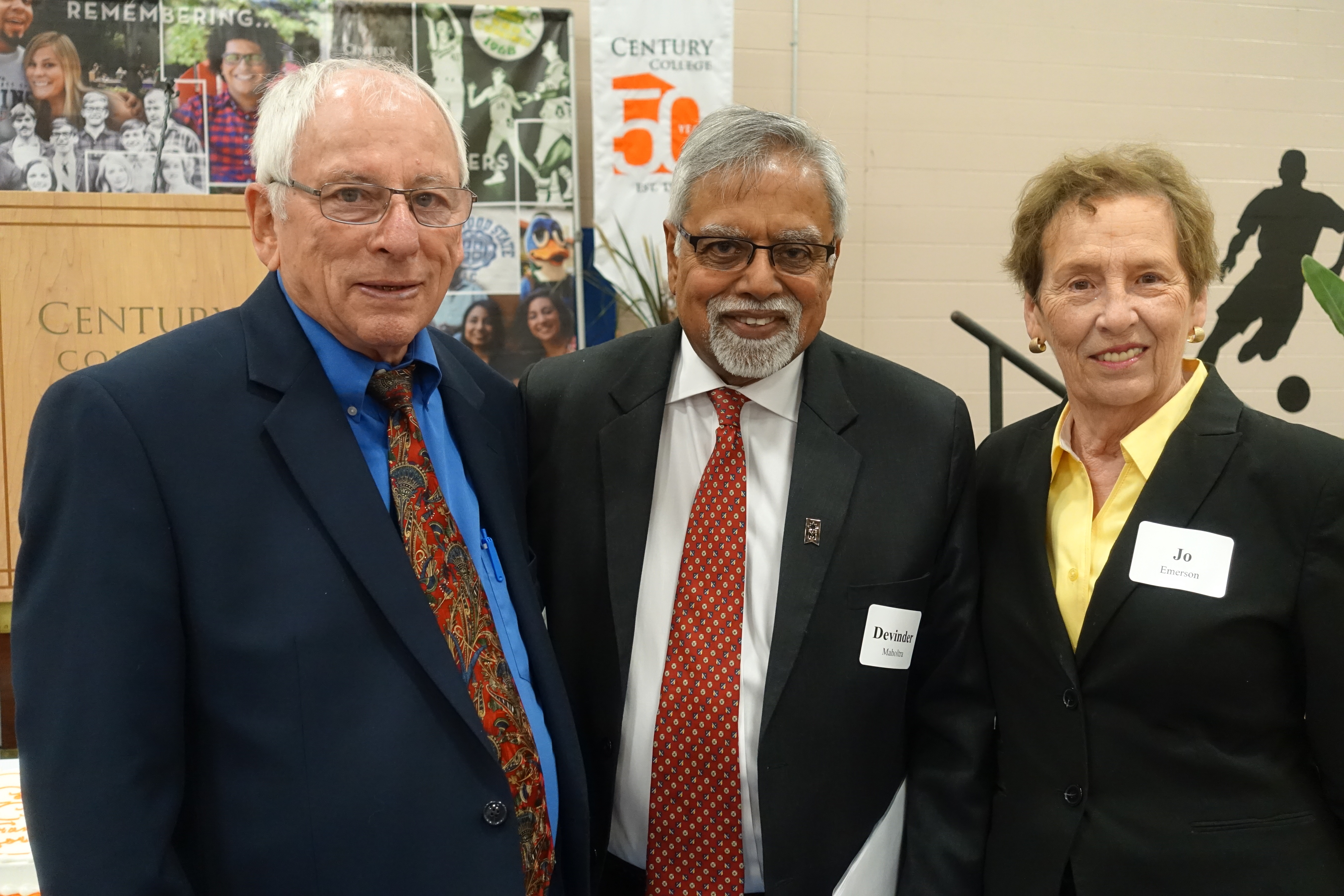 Mayors of White Bear Lake and Mahtomedi with Chancellor Devinder Malhotra