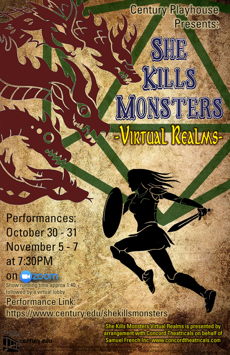 """Poster for """"She Kills Monsters"""" Virtual Theater Performance"""