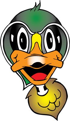 Graphic of Woody the Wood Duck, the Century College mascot