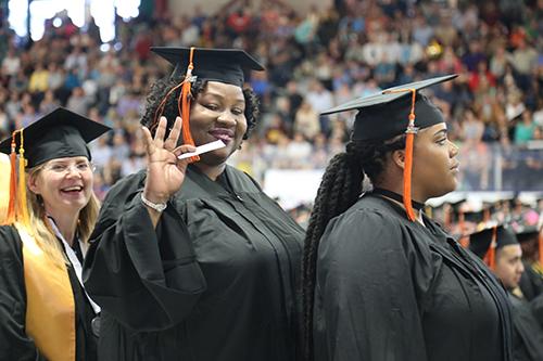 Graduates waiting