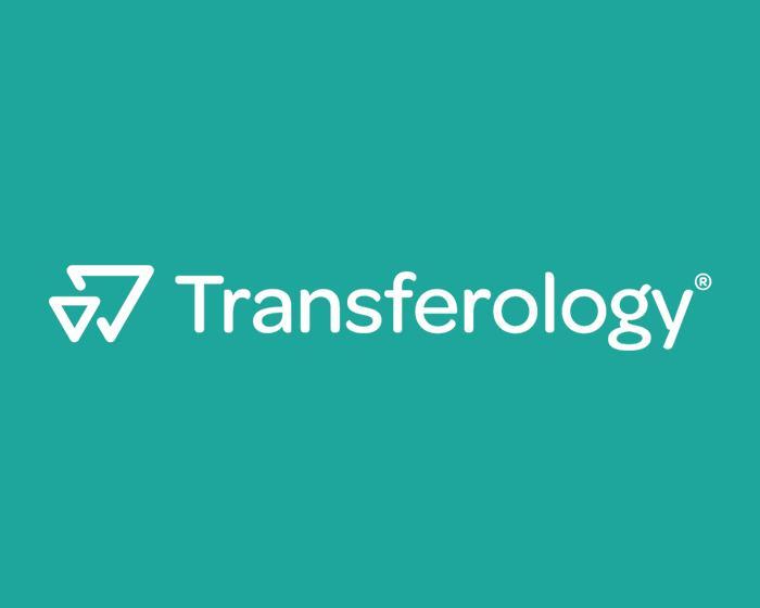 Transferology logo on a green background.