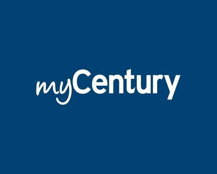 myCentury logo on dark blue background.