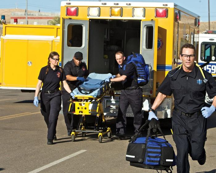 Firefighters as medical service