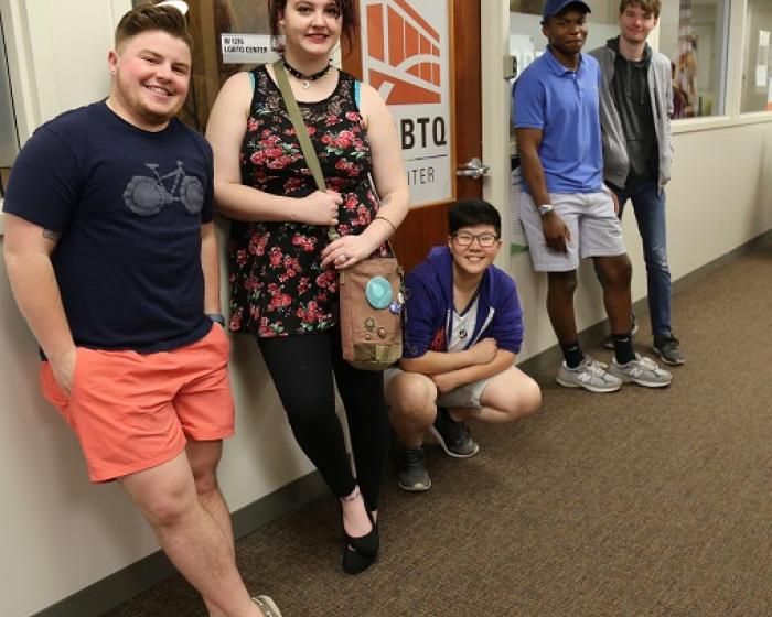 LGBTQ Center staff and students