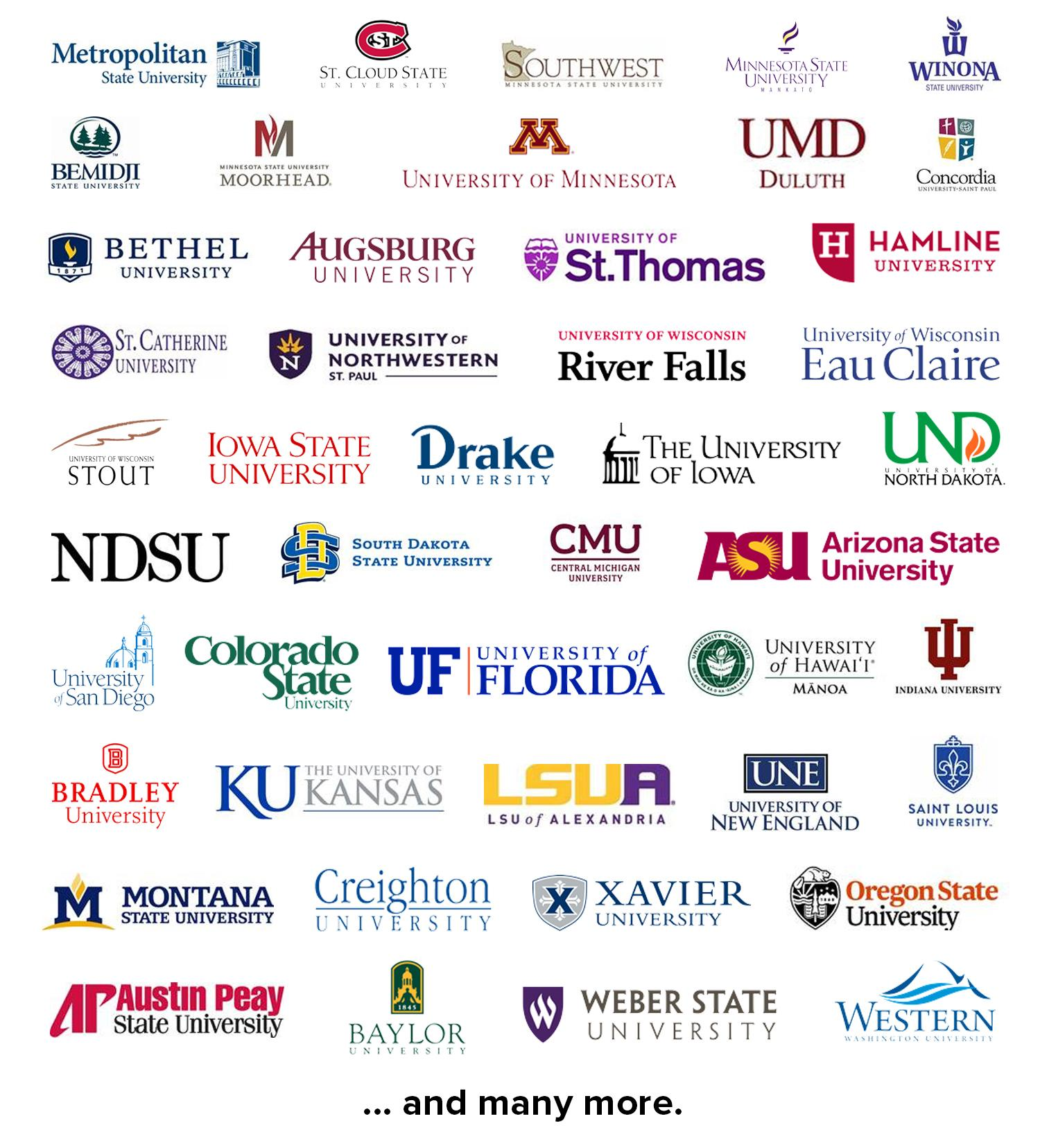 List of colleges and universities where Century students transfer.