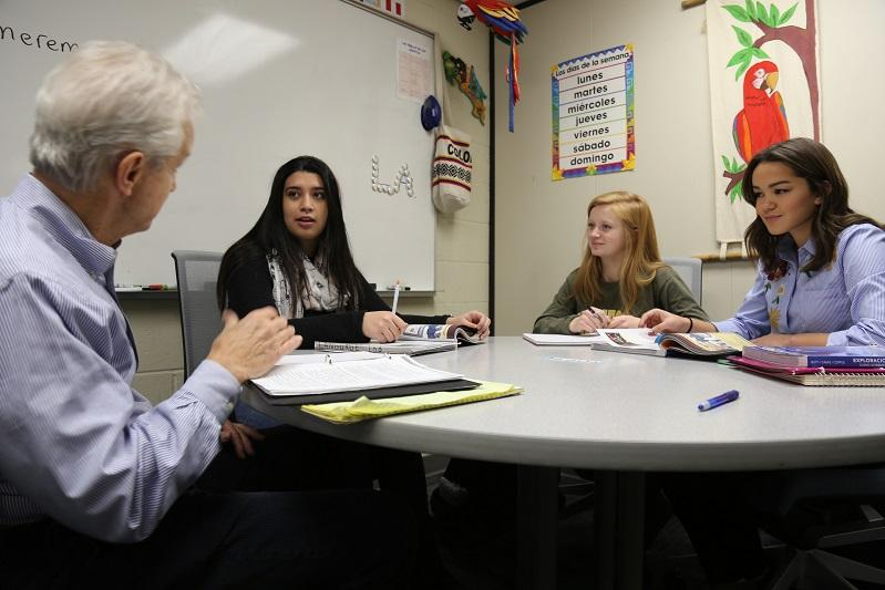 Students studying Spanish and other world languages at Century College