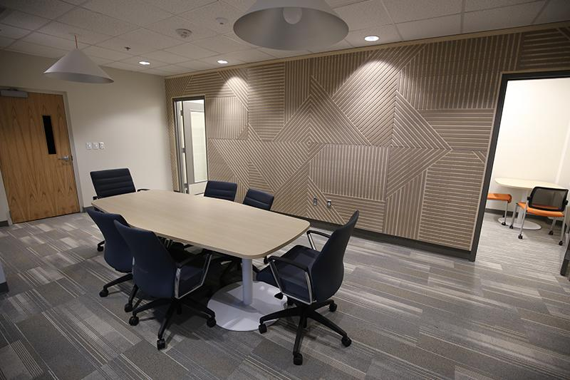 Empty conference room on campus.