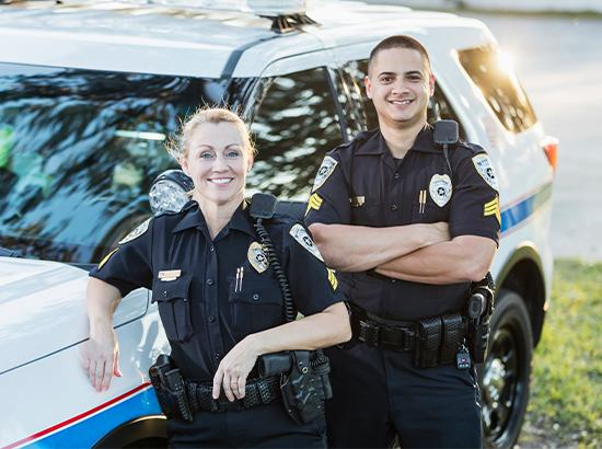 Two law enforcement officers