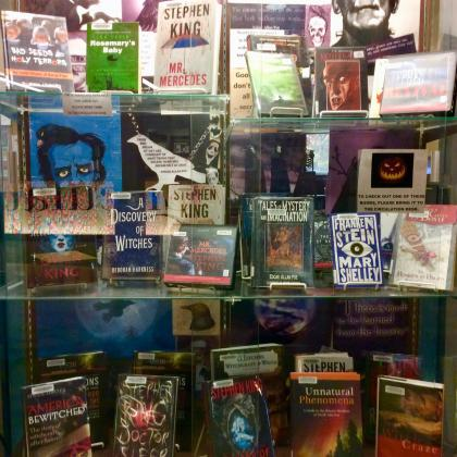 Scary stories on display in Century Library.