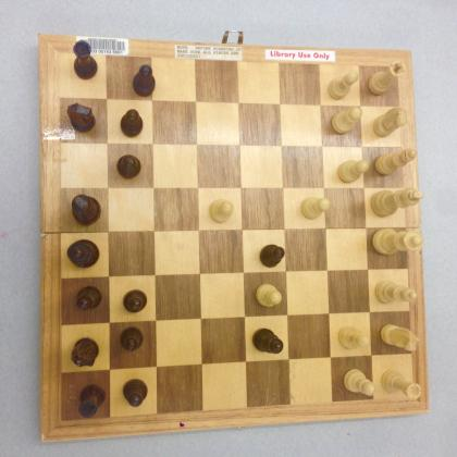 Chess board In use.