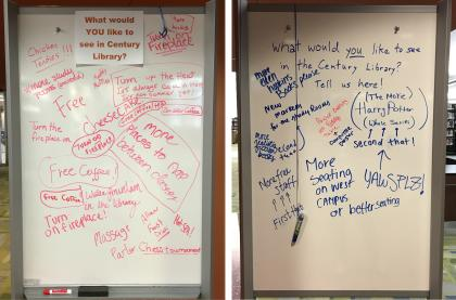Student suggestions for Century Library NLW 2017.