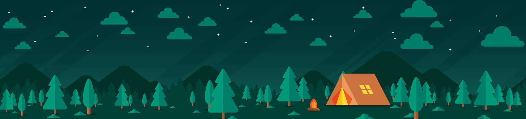 Camping graphic header.
