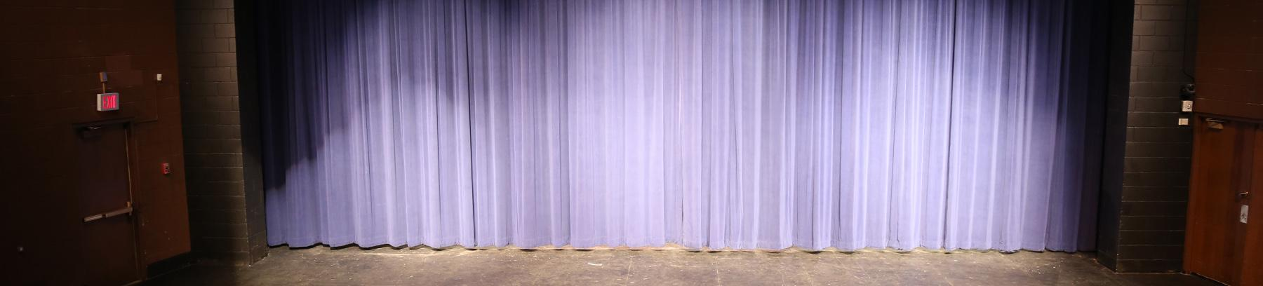 Image of west campus theater curtain.