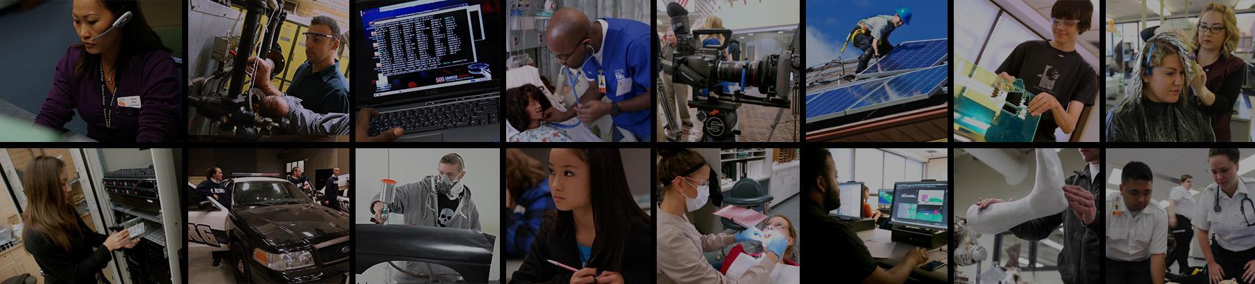 Variety of career program photos.