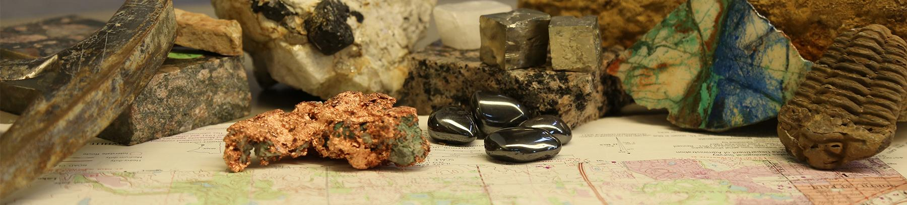 Earth science rocks and minerals.