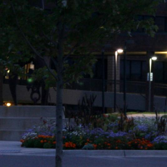 Century College east campus at nighttime