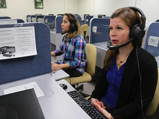 Translation and Interpreting students at a call center.
