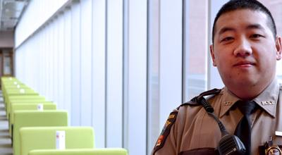 Portrait of Michael Thao in uniform.